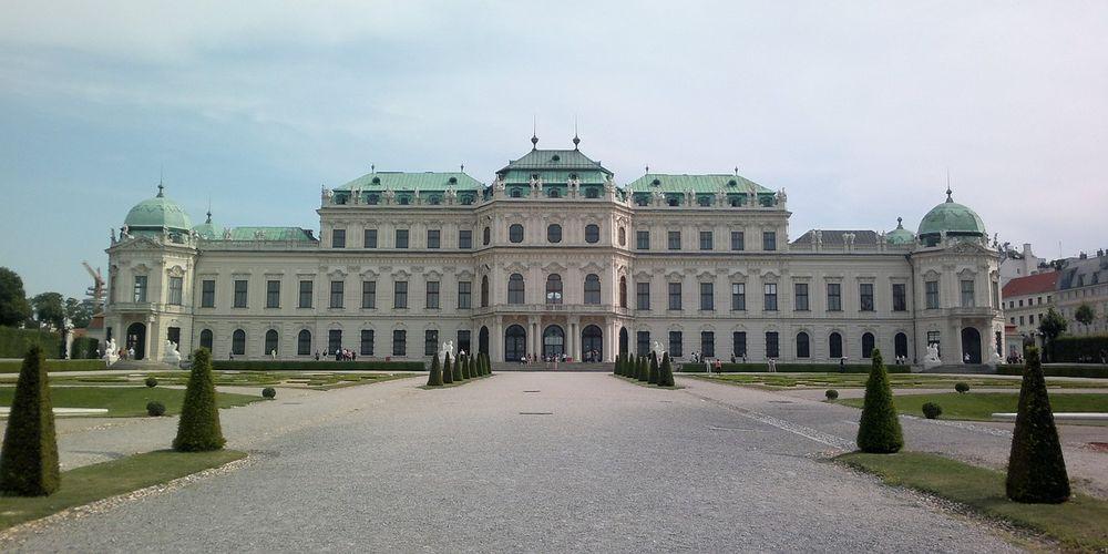 Aangezicht Schloss Belvedère in Wenen