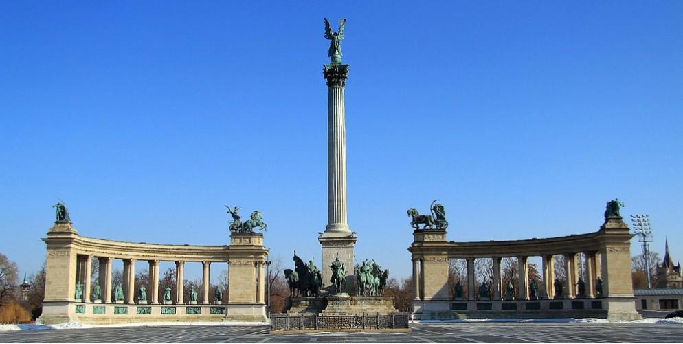 Het Heldenplein in Budapest